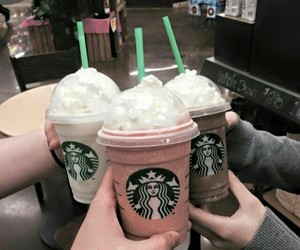 starbucks, food, and friends image