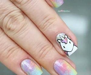 unicorn, nails, and nail art image