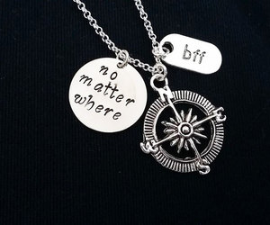 etsy, handmade necklace, and long distance image