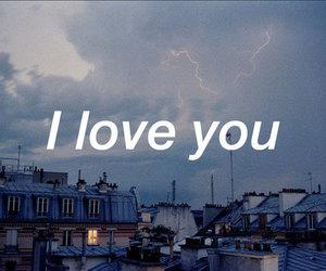 love, I Love You, and sky image