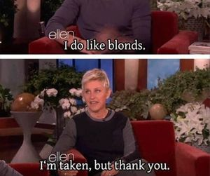 funny, ellen, and blonde image