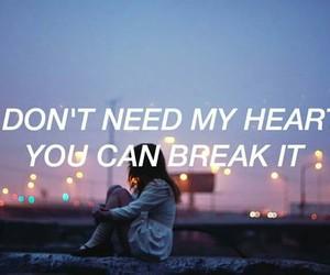 broken, love, and break image