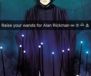 alan rickman, harry potter, and hermione granger image