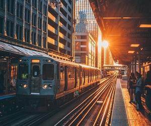station and sunrise image