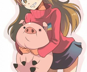 gravity falls, pig, and mabel image