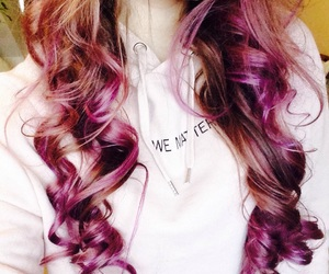 curly, loreal, and pink image
