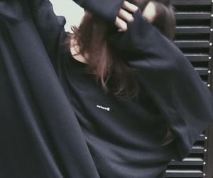 aesthetic, black, and black sweater image