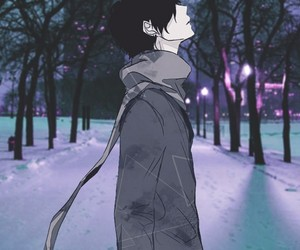 anime, boy, and Collage image
