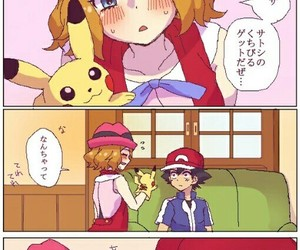 ash, serena, and cute image
