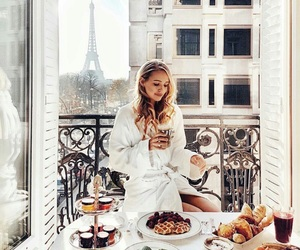 girl, paris, and beauty image