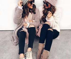 friends, fashion, and outfit image