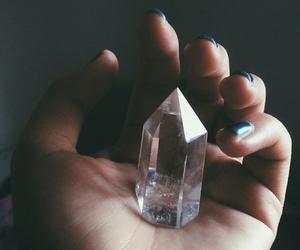 crystal, girl, and hand image