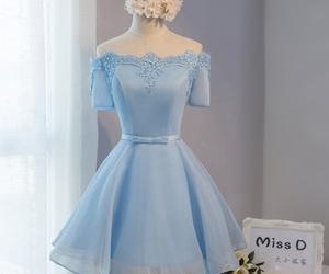 blue dress, dress, and prom dress image