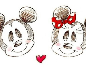 mickey, disney, and minnie image