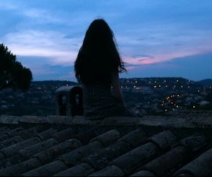 alone, sky, and forever image