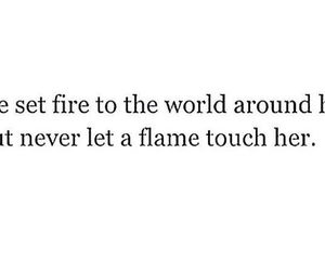 black and white, flame, and quotes image
