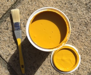 yellow and paint image