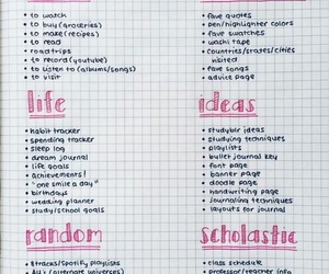 ideas, bullet journal, and journal image