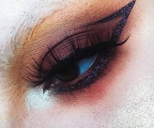 dark makeup, gothic, and glitter image