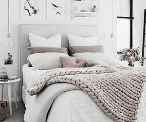 bed, home, and bed room image