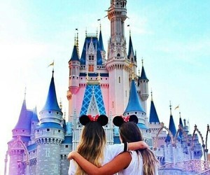 friends, disney, and disneyland image