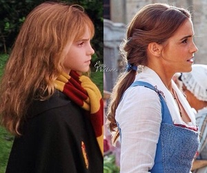 emma watson, belle, and harry potter image