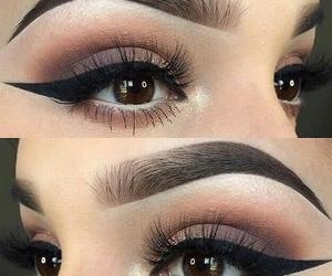 eyeliner, eyes, and Nude image