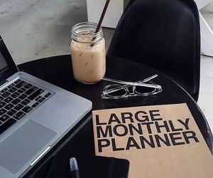 coffee, macbook, and work image