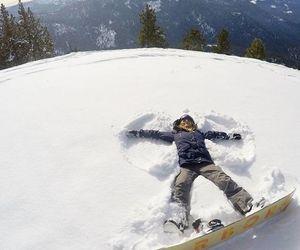angel, snow, and snow angel image