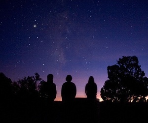stars, night, and friends image