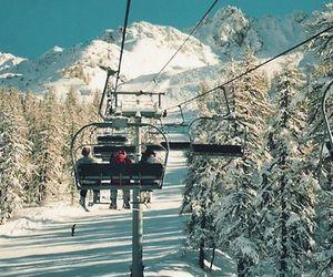 Skiing, skilift, and snow image