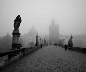black and white, city, and Praga image