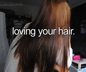 hair, love, and quote image
