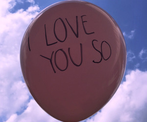 balloon, pink, and sky image