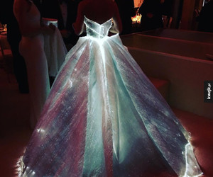 colors, dress, and lights image
