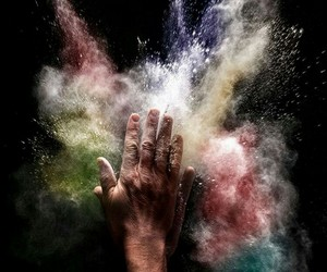 photography, colors, and explosion image