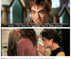 funny, harry potter, and robert pattinson image