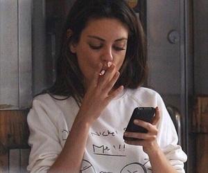 Mila Kunis, smoke, and cigarette image