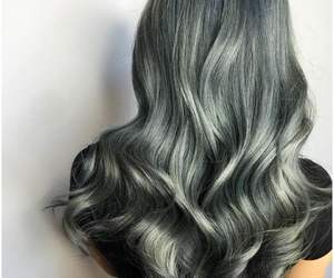 girl, grey, and curly image