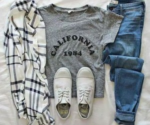 city, jeans, and shirts image