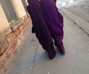 hijab, sisters, and violet image