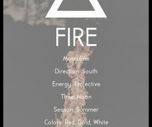 elements and fire image