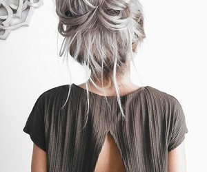 bun, messy, and fashion image