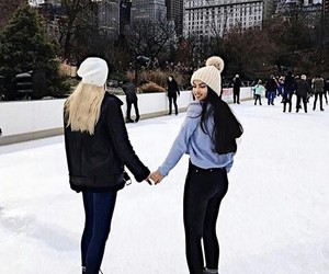 bff, girls, and ice image