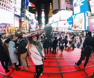 new york, times square, and usa image