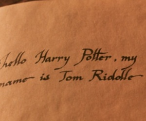 diary, harry potter, and tom marvolo riddle image