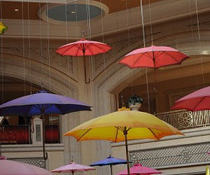 colorful, colourful, and umbrellas image
