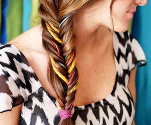 braid, colorful, and cool image