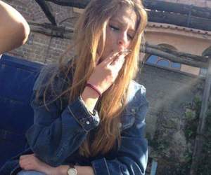 cigarette, ginger, and girl image