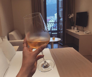 drink, luxury, and bedroom image